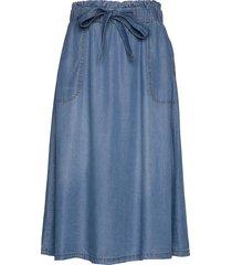 vincacr skirt knälång kjol blå cream