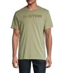 g-star raw men's logo t-shirt - blue - size l