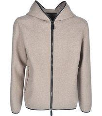 giorgio armani sid slit pocket zip hoodie