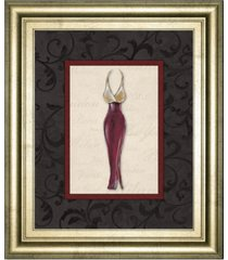 "classy art fashion dress ii by susan osbourne framed print wall art, 22"" x 26"""