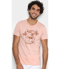 camiseta malwee slim summer bolso masculina - masculino