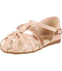 sandalia rosa molekinha brillo