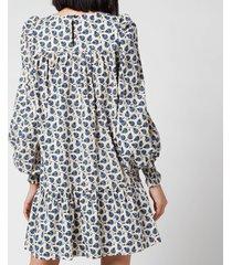 munthe women's sabel dress - indigo - fr 40/uk 14