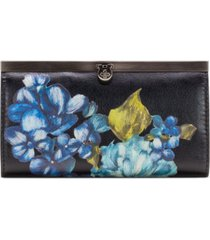 patricia nash blue clay floral spot cauchy wallet