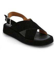 stb-astrid cross s shoes summer shoes flat sandals svart shoe the bear
