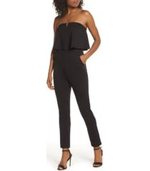 women's fraiche by j strapless ruffle jumpsuit