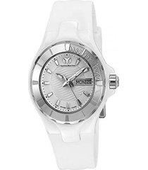 reloj  technomarine blanco modelo tm-110022ac para mujer, colección cruise
