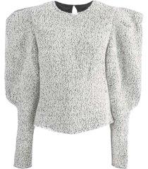 isabel marant white wool blend sweater