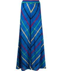 missoni fine knit palazzo pants - blue