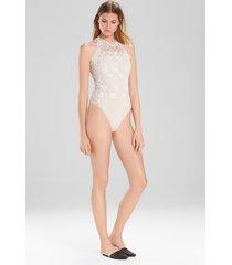 element bodysuit, women's, white, cotton, size xs, josie natori