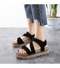 sandalias coreanas de verano para mujer zapatos de plataforma rome velcro