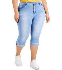 gogo jeans trendy plus size skinny capri jeans