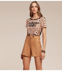 t-shirt acostamento cropped bege