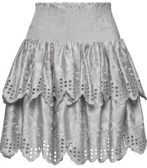 tiered broderie anglaise skirt kort kjol silver designers, remix