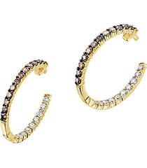 le vian® 14k honey gold™ chocolate & nude™ nude diamonds® and chocolate diamonds® hoop earrings