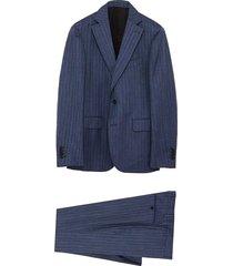 'satoria' notch lapel wool silk blend suit