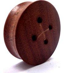 alargador madeira botão 06mm - 08mm - vintage alargadores