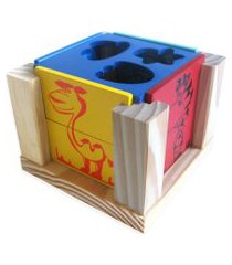 cubo carimbrás forme  imagens  multicolorido