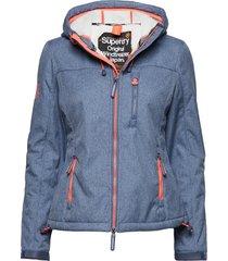 hooded sherpa windtrekker sommarjacka tunn jacka blå superdry