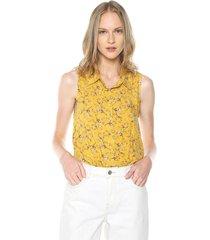 blusa amarillo-multicolor active