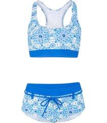 bikini a bustier minimizer (set 2 pezzi) (blu) - bpc bonprix collection
