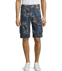 jetlag men's ripstop camo cargo shorts - blue camo - size 32
