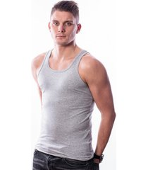 ten cate men singlet stretch grey melee two pack (30226)