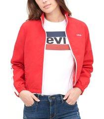 levi's taslan mock-neck zippered jacket