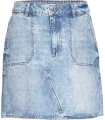 skirts denim kort kjol blå edc by esprit