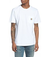 men's carhartt work in progress logo pocket t-shirt, size xx-large - white