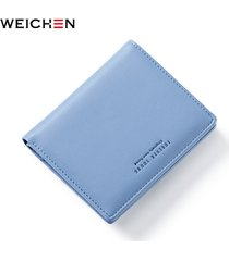 women zipper hasp wallet short fashion lady portable small solid color pu leathe
