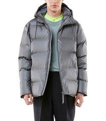 men's rains waterproof thinsulate(tm) puffer jacket, size x-large - grey