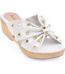 priceshioes sandalia confort dama 67200-02blanco