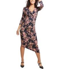 women's ingrid & isabel asymmetrical hem midi maternity/nursing dress