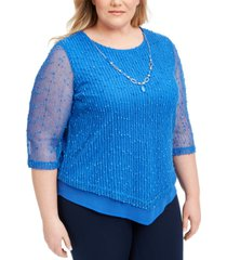alfred dunner plus size sea you there mesh top