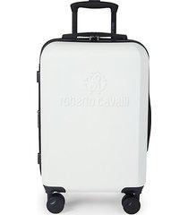 logo expandable hardside carry-on suitcase