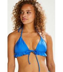 hunkemöller suze triangel-bikiniöverdel blå