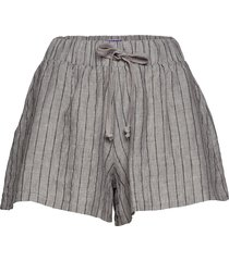 new brady linen shorts flowy shorts/casual shorts grå line of oslo