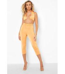 gerecyclede strakke leggings met taille detail, orange