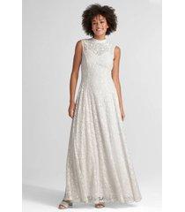 maxiklänning floral mesh emb dress