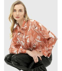 camisa naranja-blanco-negro paris district