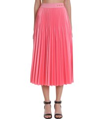 givenchy skirt in rose-pink viscose