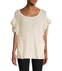 dafgan alpaca-blend pointelle sweater