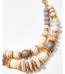 loft mixed beaded statement necklace