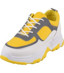 zapatilla chunky lucy2 amarillo weide