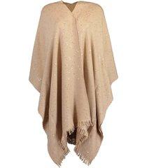 almond sparkling pailette shawl