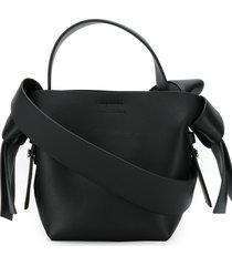 acne studios micro musubi shoulder bag - black