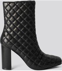 na-kd shoes höga stövlar - black