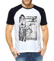 camiseta criativa urbana raglan sexy mulher vintage