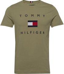 tommy flag hilfiger tee t-shirts short-sleeved grön tommy hilfiger